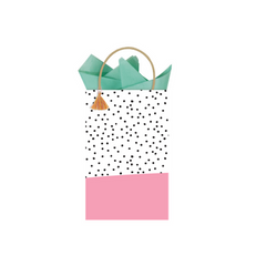 Polka Dot Printed Gift Bag