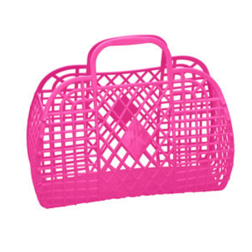 Large Hot Pink Jelly Handbags