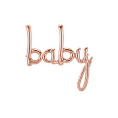rose gold script baby balloon