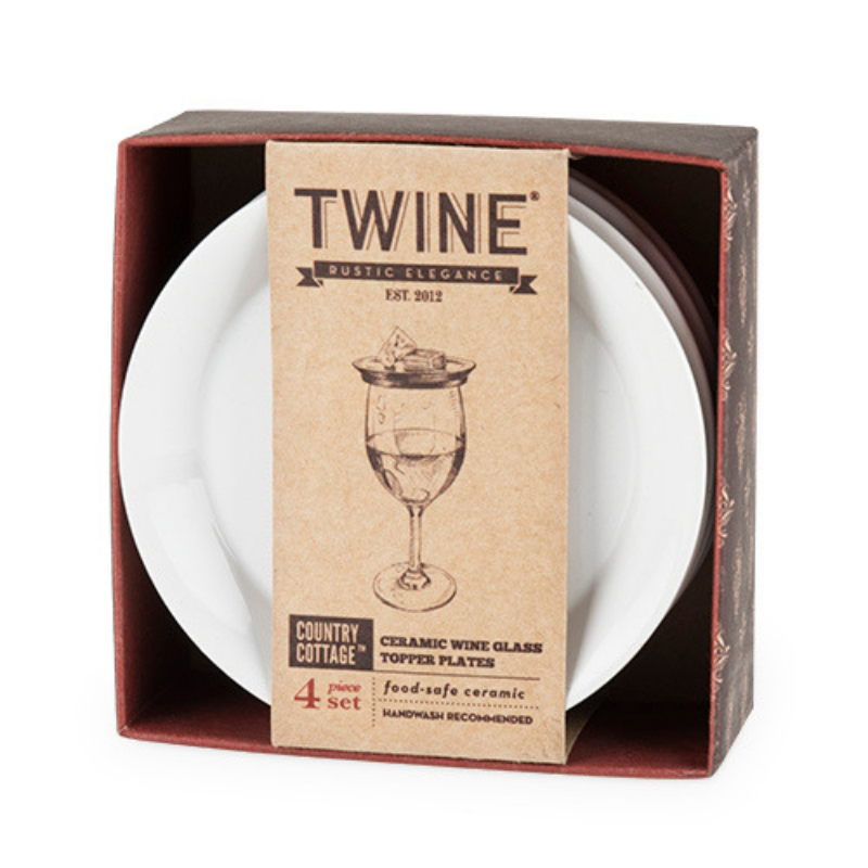 Wine Glass Topper Plates