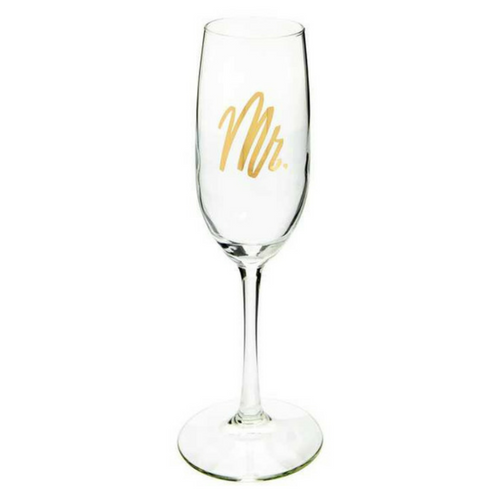 Wedding Champagne Flute Mr.
