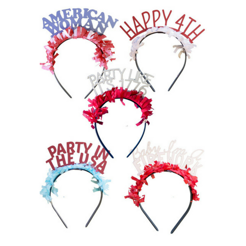"""Fourth of July"" Party Headbands"