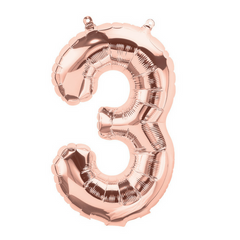"13.5"" Number Balloons - Rose Gold"