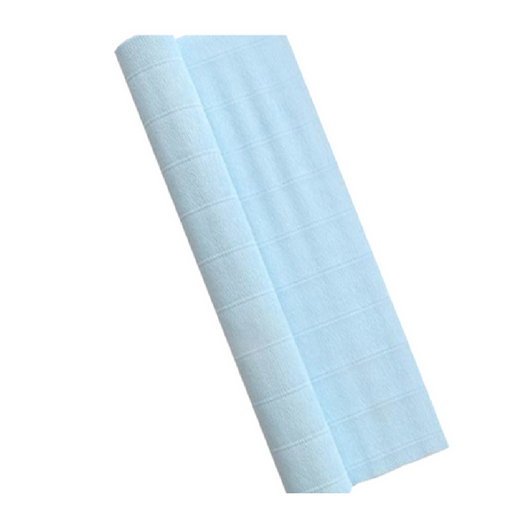 Light Blue Crepe Paper Table Runner