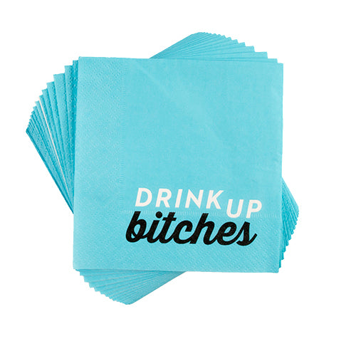 """Drink Up Bitches"" Cocktail Napkins"
