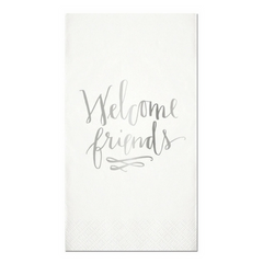 'Welcome Friends' Guest Napkins