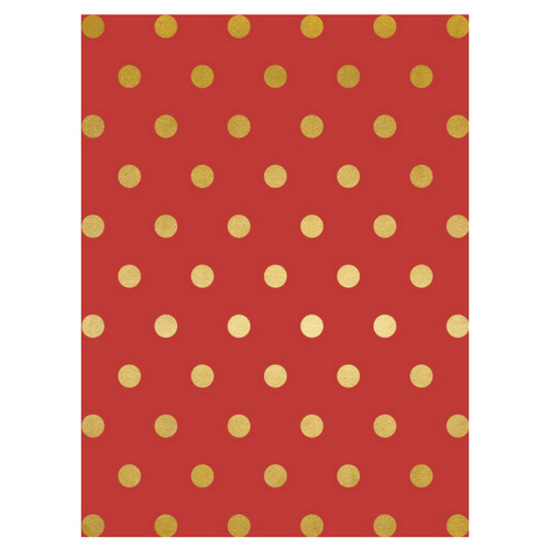Red With Gold Foil Dots Wrapping Paper