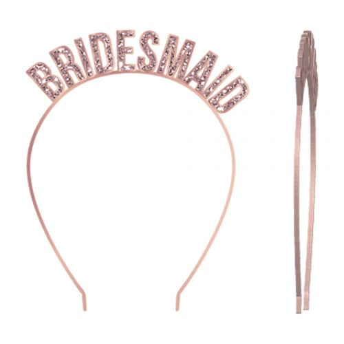 rose gold bridesmaids headband