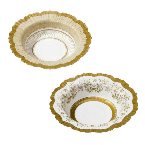 Gold Scalloped Bowls
