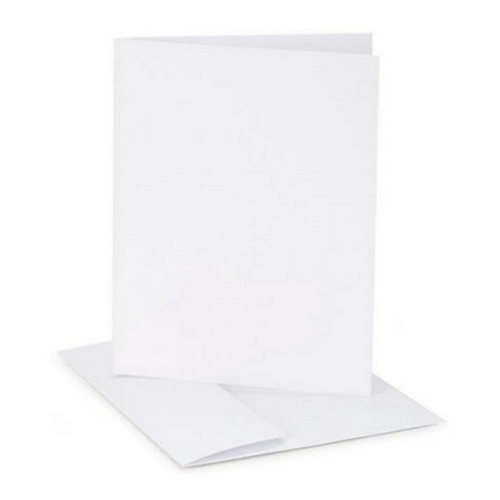 Blank White Cards and Envelopes