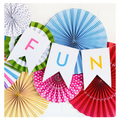 BRIGHT BIRTHDAY LETTER BANNER