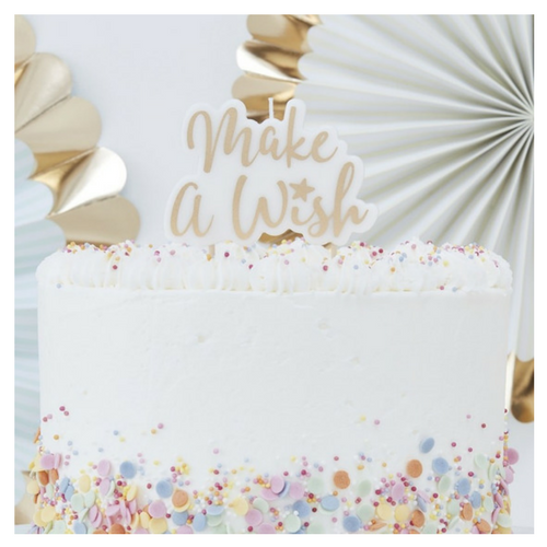 'make a wish' birthday candle