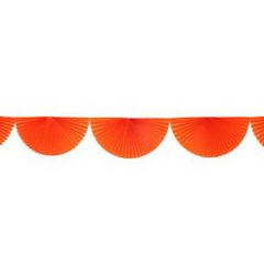 Orange Bunting Fan Garland