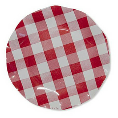 Red & White Gingham Plates