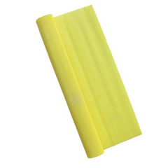 Yellow Crepe Paper Table Runner