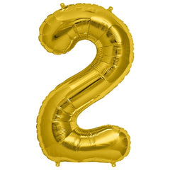 "16"" Number Balloons - Gold"