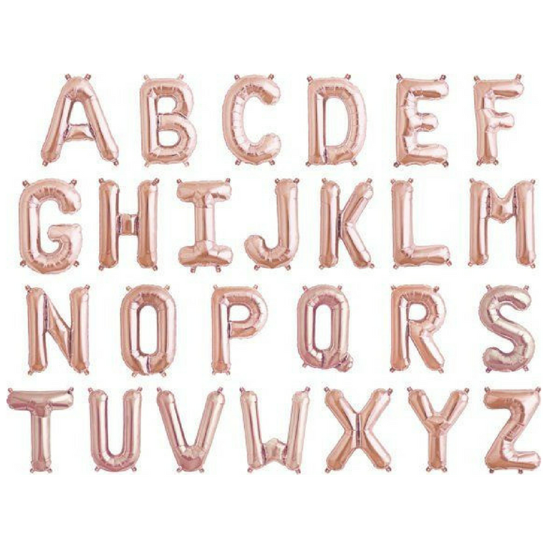 "34"" Rose Gold Letter Balloons"