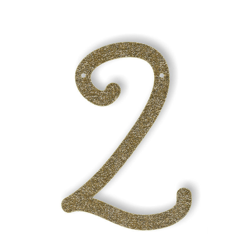 Gold Acrylic Bunting - Numbers