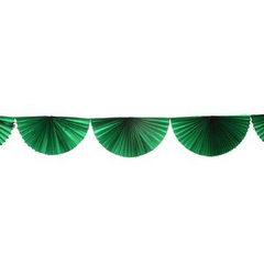 Light Green Bunting Fan Garland