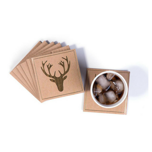 Gold Stag Coasters