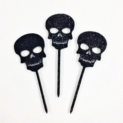 Skull Cupcake Toppers