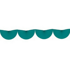 Teal Bunting Fan Garland