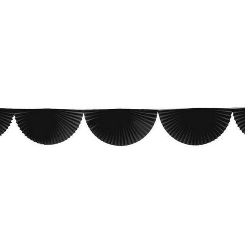 Black Bunting Fan Garland