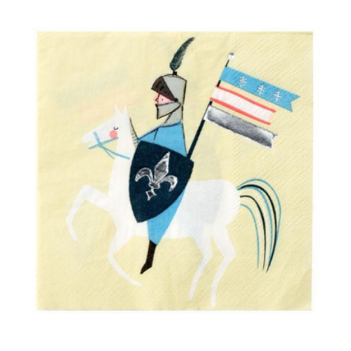 Knight in Shining Armor Napkin - Small