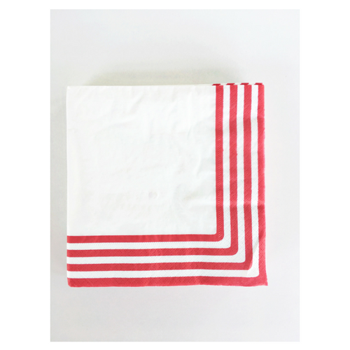 red striped paper napkins