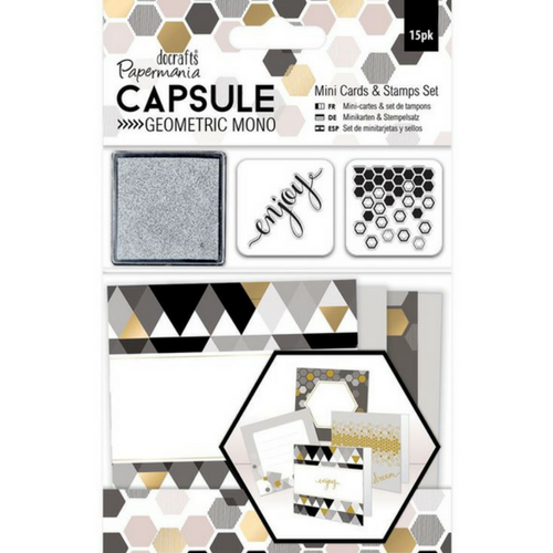 Geometric Mini Cards and Stamps set