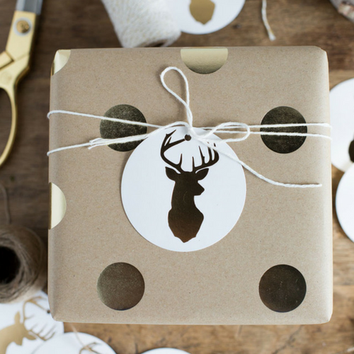 stag gift tags