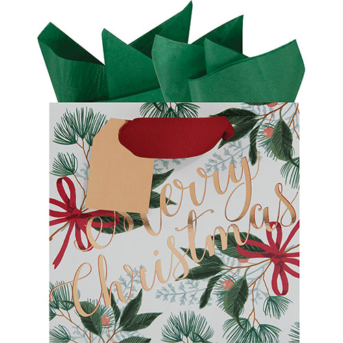 """Merry Christmas"" Vintage Gift Bag"