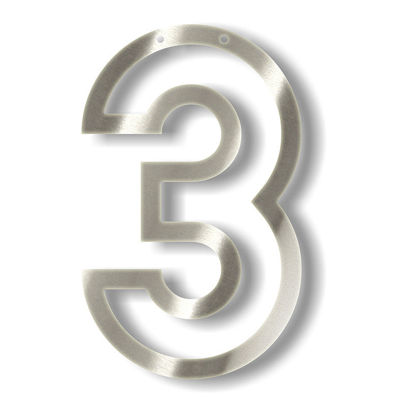 Silver Acrylic Bunting - Numbers