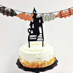 haunted house cake topper