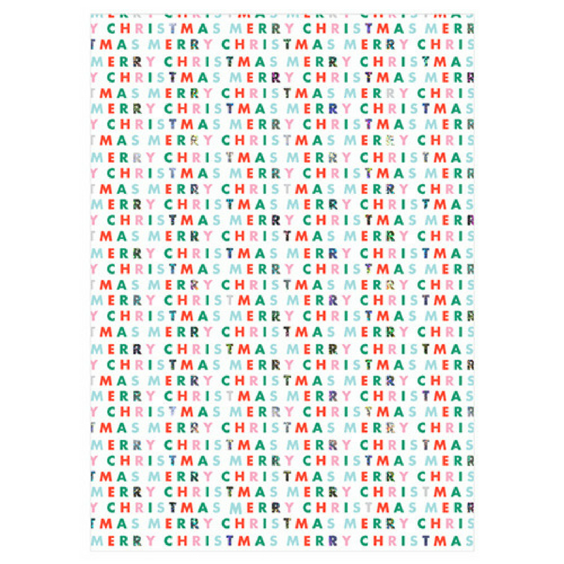 Christmas Type Wrapping Paper