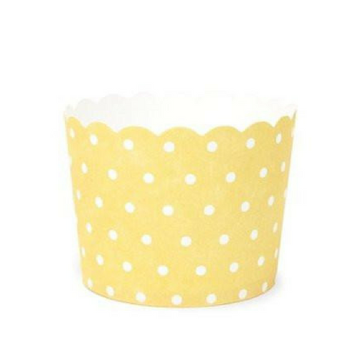 Yellow with White Polka Dot - Baking Cups