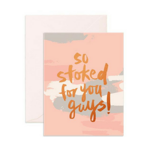 'So Stoked' Greeting Card