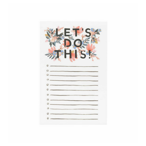 Cute floral notepad