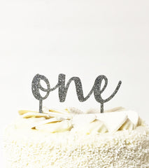 'One' Cake Topper