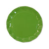 green ruffled edge plates and bowl
