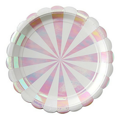Iridescent Scalloped Plates