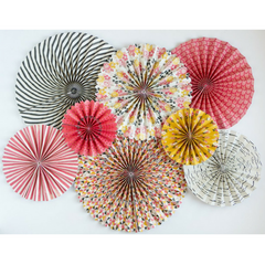 multi colored and patterned rosettes