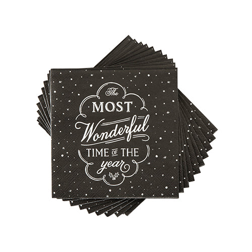"""Most Wonderful Time of the Year"" Cocktail Napkin"