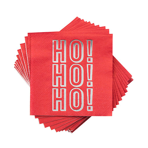 """HO! HO! HO!"" Cocktail Napkin"