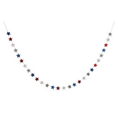 4th of july mini star glitter garland