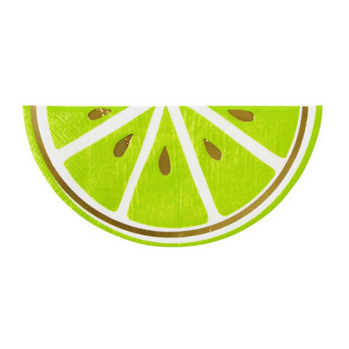 cute lime die cut paper party napkins