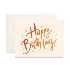 Gold foil happy birthday card