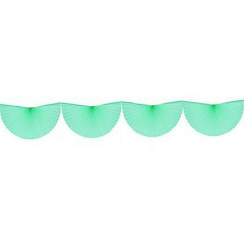 Mint Green Bunting Fan Garland