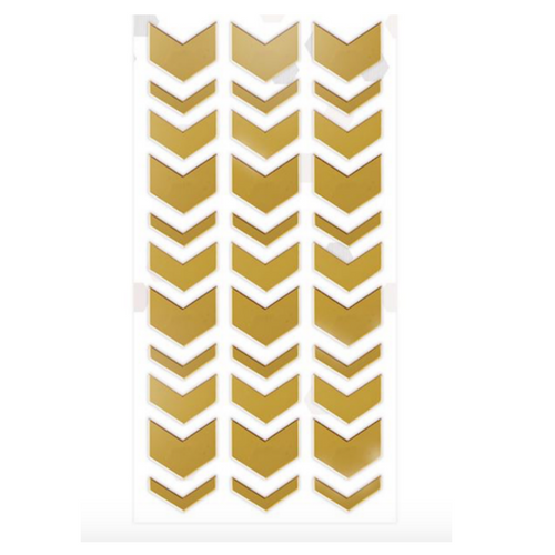 Adhesive Chevron Mirror Shapes