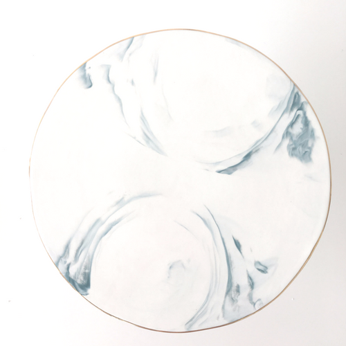 Marble Cake Stand- Blue